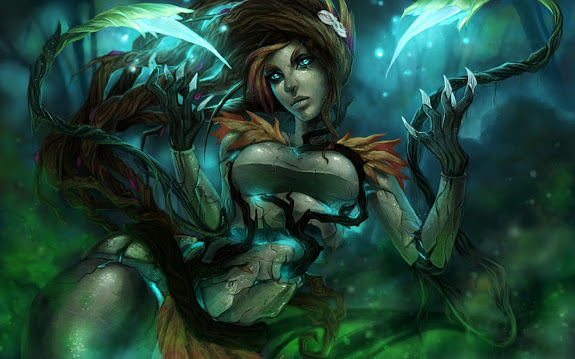 haunted zyra skin splash league of legends hd wallpaper lol girl