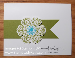 Card made with Stampin'UP! Mixed Bunch Stamp Set and Banner cut with the Square Punch