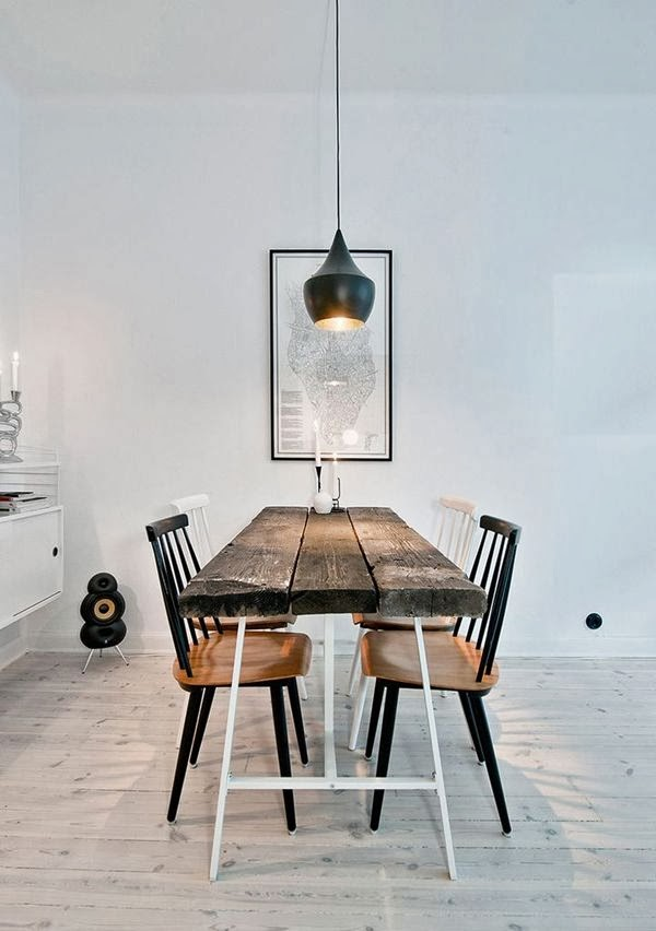 pendant lights over the dining table norse white design blog. Black Bedroom Furniture Sets. Home Design Ideas