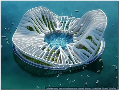 Beautiful DUBAI Lilypad Floating City