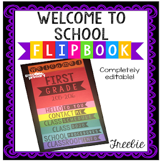https://www.teacherspayteachers.com/Product/Welcome-to-School-Editable-Flipbook-FREEBIE-1951392