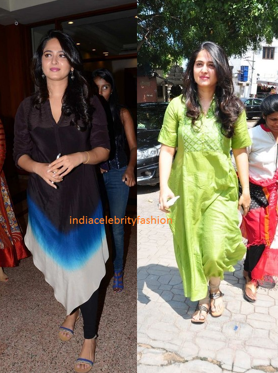 Anushka shetty latest Kurta Styles