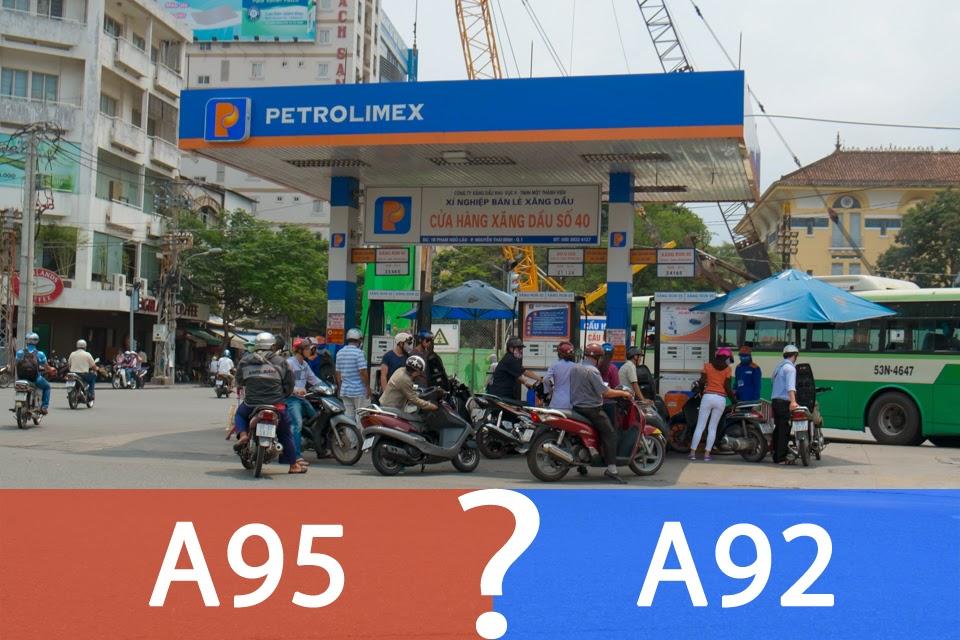 Xăng A95 và A92