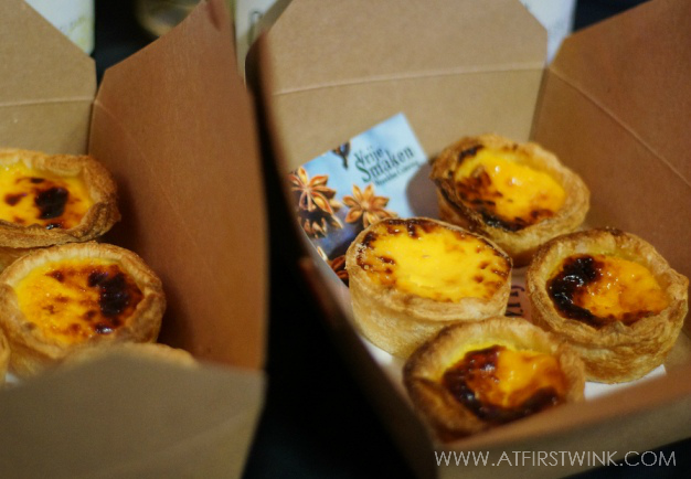 Portugese egg tarts sold at the Swan market Rotterdam