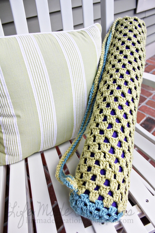 Free Crochet Pattern Yoga Mat Bag : Life Made Creations: June 2013