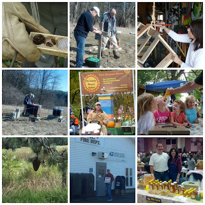 Photo Collage of Heavenly Honey Apiary