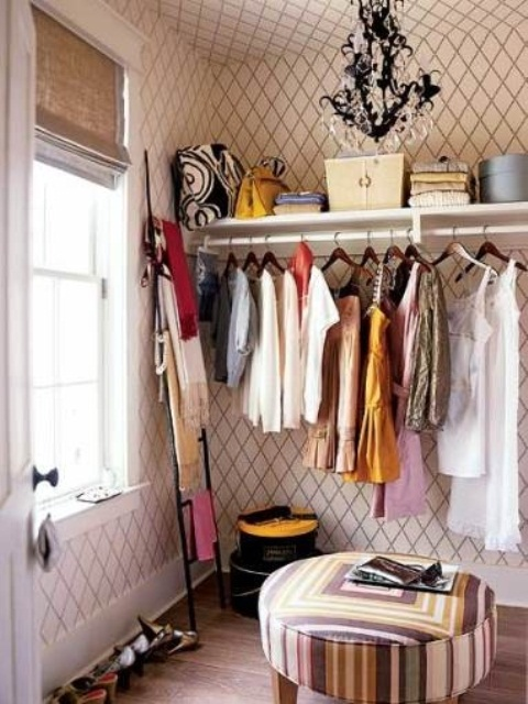 40 walk in closet - Open closets small spaces paint ...