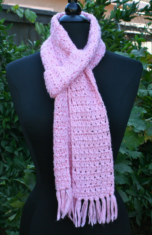 Knots N Knits Cross Stitch Crochet Scarf
