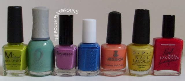 Misa, Orly, Barielle, Essie, Jessica, OPI, American Apparel