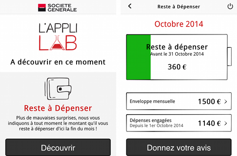 L'Appli Lab sur iPhone