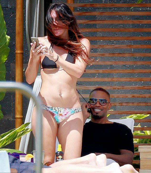 Jamie Foxx and his second wife in Maui, Hawaii on Monday, May 12, 2014.
