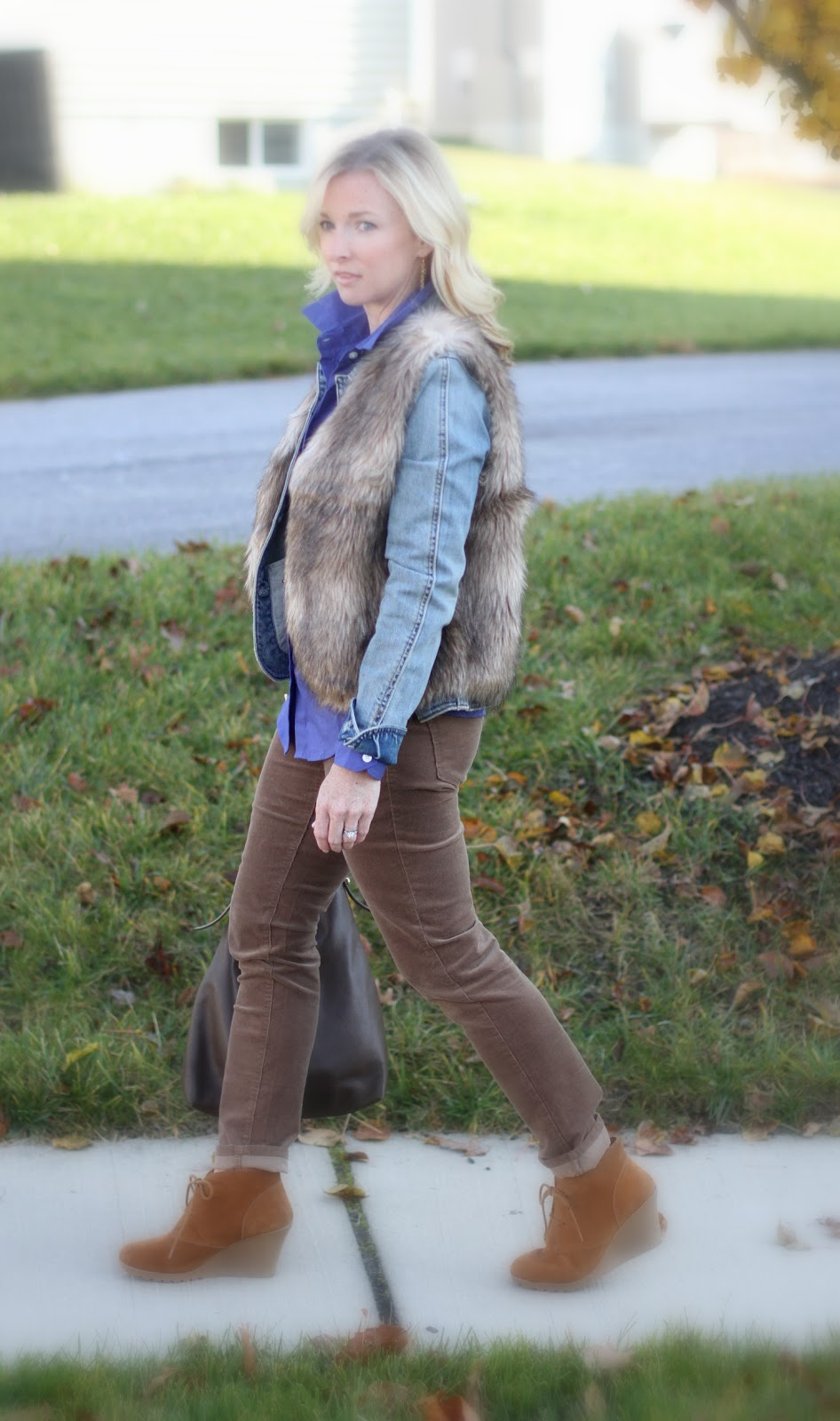 Nordstrom, fur vest, Old Navy, Michael Kors, Target, Dooney & Bourke