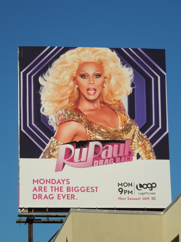 RuPaul's Drag Race 4 Logo billboard