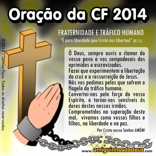 Oração da Campanha da Fraternidade 2014 para colorir ~ Amiguinhos de ...