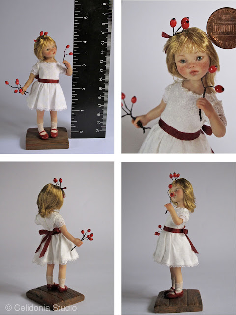 ooak art doll in 1/12 scale