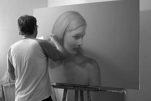 Desenhos a lápis de carvão - hiper-realismo de Dirk Dzimirsky