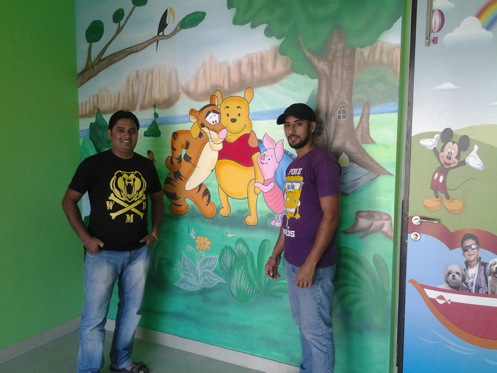 School class room wall murals khar mahim mumbai for Room design mahim