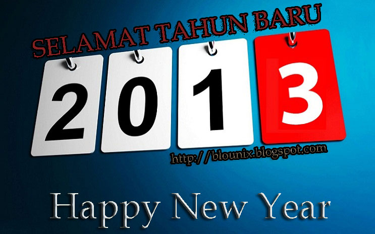 Ucapan Selamat Tahun Baru 2013 Terbaru