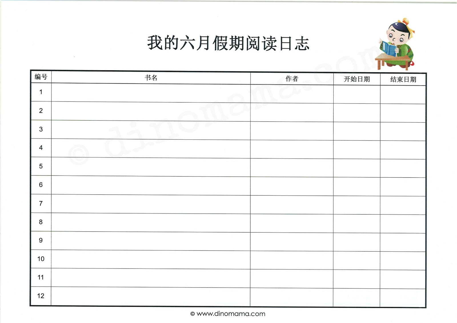 project log template .