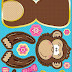Monkey: Cute Free Printable Paper Toy.