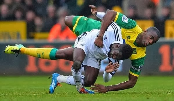 Nathan Dyer injured on the field