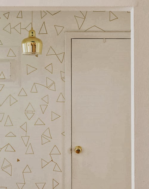 geometric metallic gold sharpie diy wall art