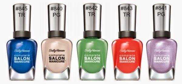 Sally Hansen Designer Kollektion 2014 - Preview colours / farben