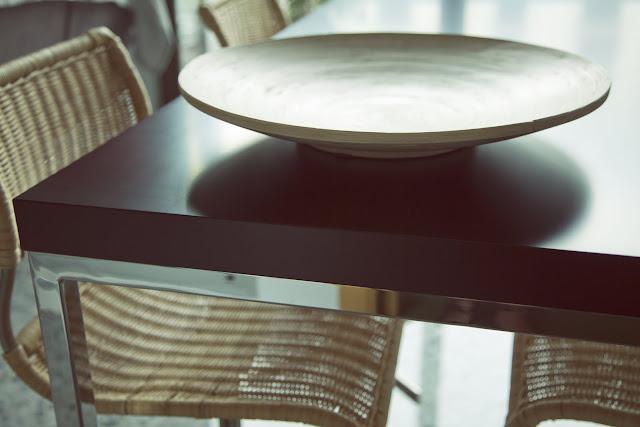 Proyecto interiorismo en Valencia. Detalle mesa.