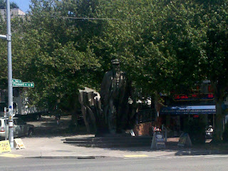 Bronze status of Lenin in Seattle's Fremont neighborhood
