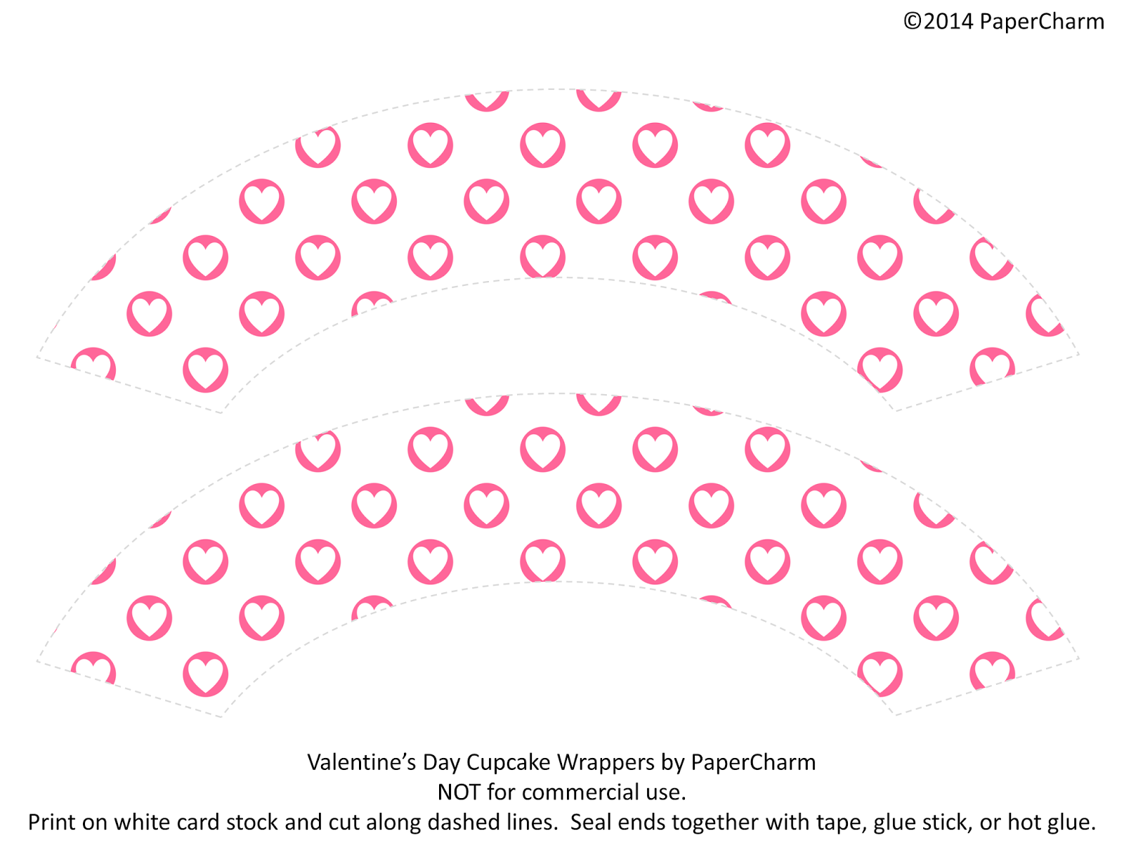 Valentine's Cupcake Wrappers by PaperCharm