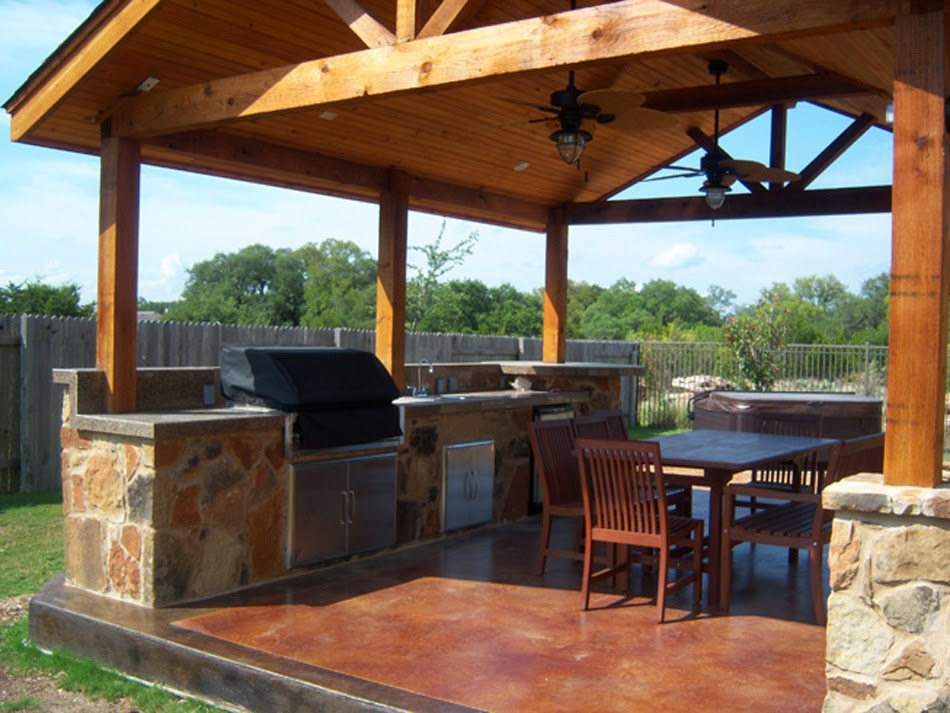 Free standing patio cover plans ayanahouse for Outdoor kitchen roof structures