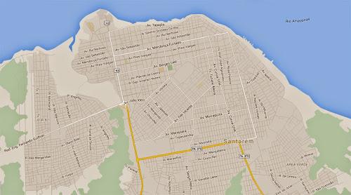 Mapa de Santarém - Pará