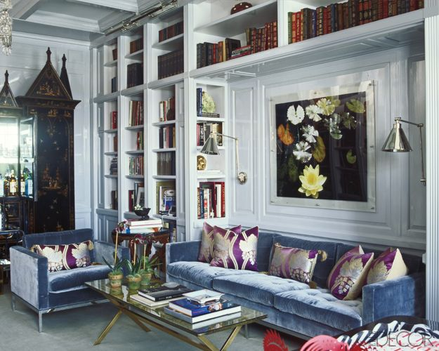 Sofa Nook In A Built In Bookcase