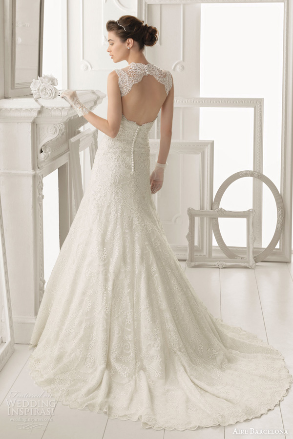 Aire Barcelona Vintage 2014 Bridal Collection Lace Wedding Dresses Hairst