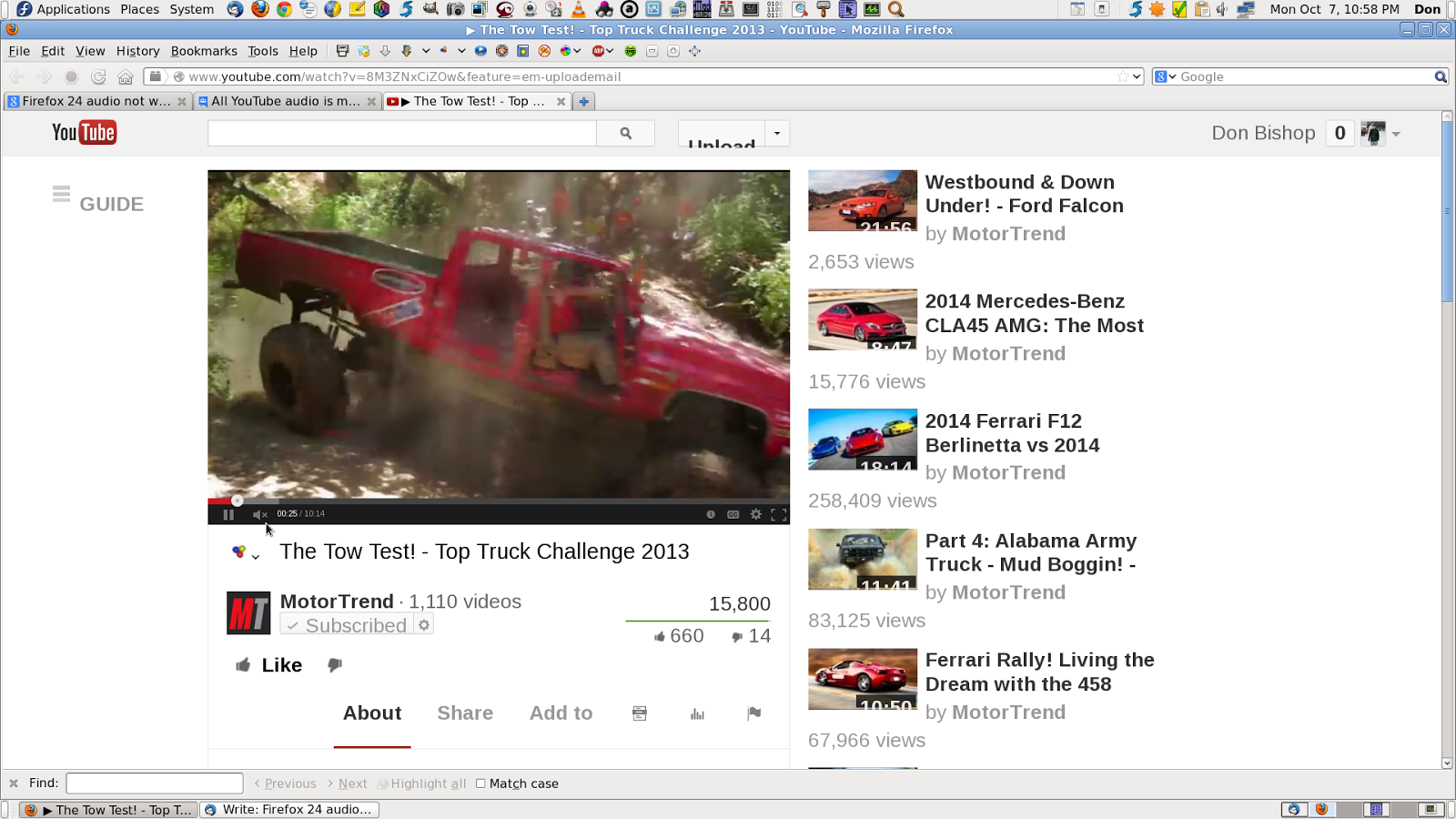 firefox youtube not working