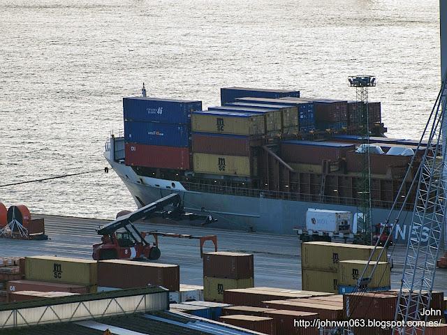 fotos de barcos, imagenes de barcos, wec vermeer, containero, feeder, vigo