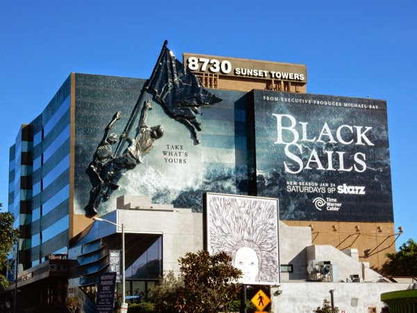Giant Black Sails season 2 billboard installation