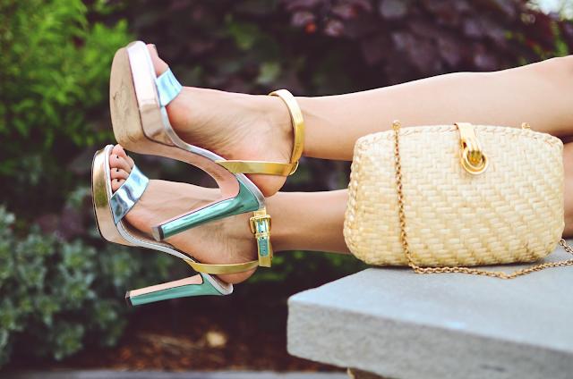 Metallic shoes trend