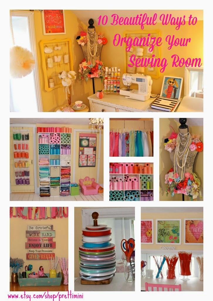 pretti mini blog  10 ways to organize your craft room or