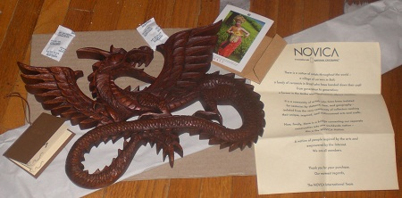 Flying Dragon Sculpture from NOVICA
