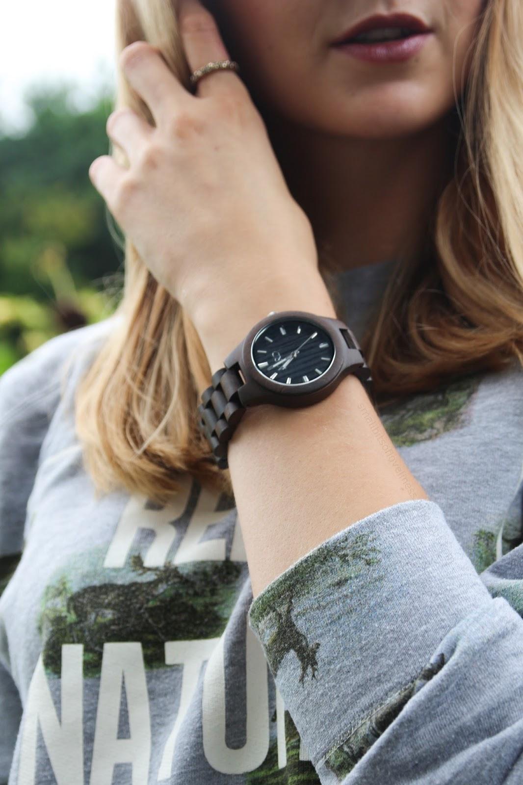 Jord Wooden Watch Black Fieldcrest