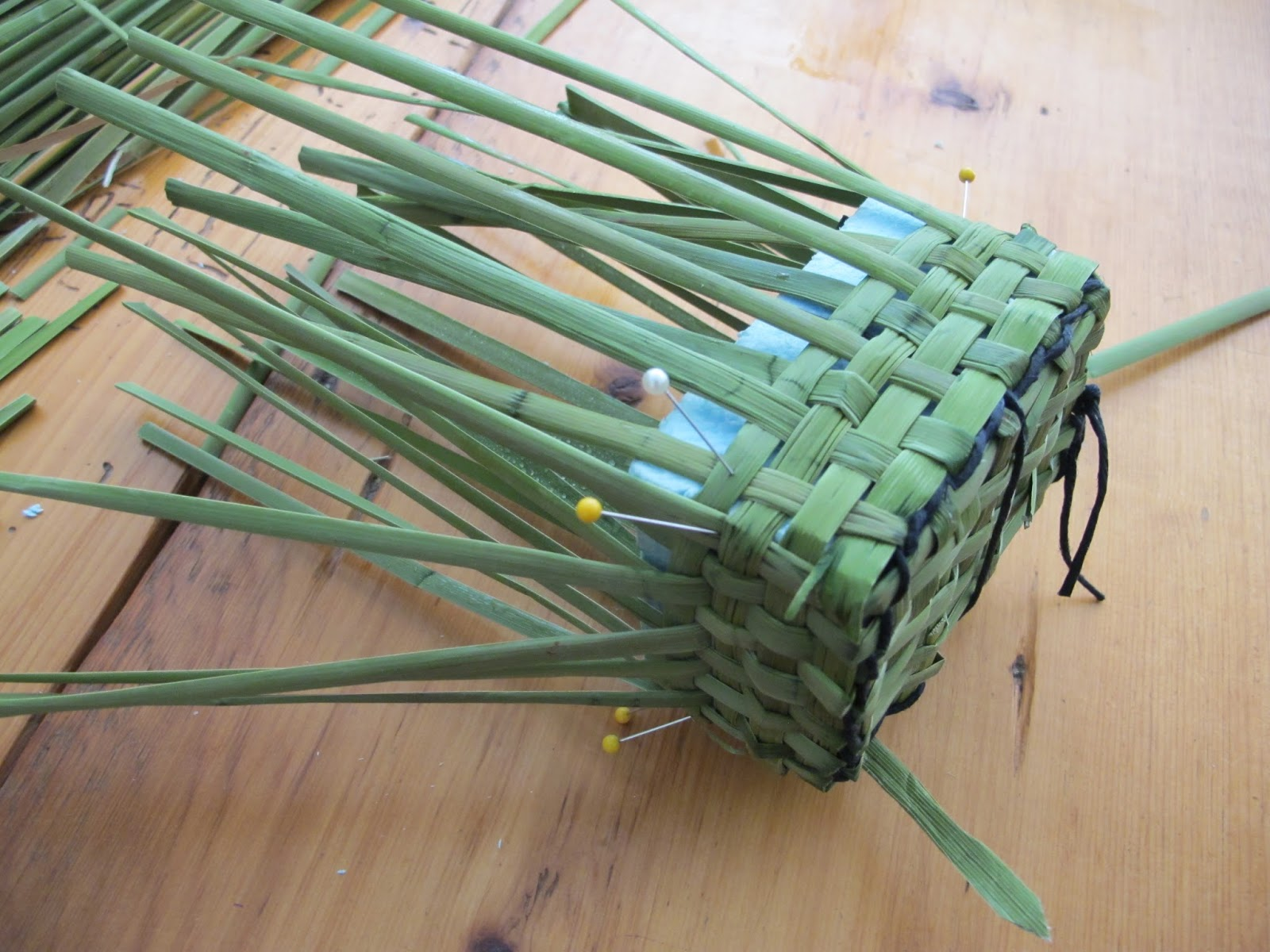 How To Weave A Basket Out Of Cattails : Linda marcille art on silk weaving with cattails