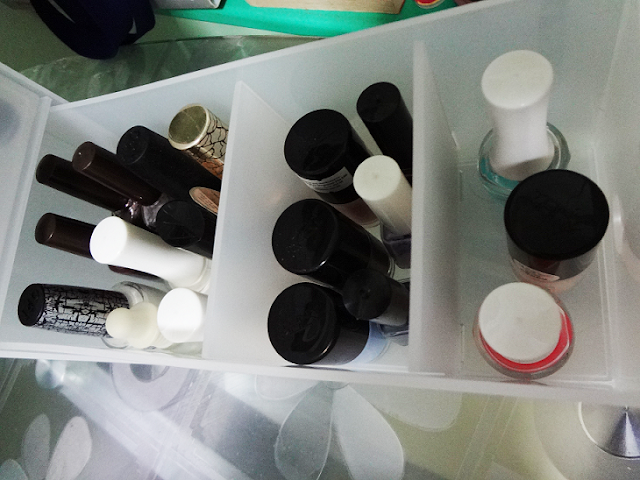 muji pp chubby box nail polish storage box drawer review