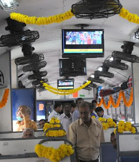 reliance digital tv on trains