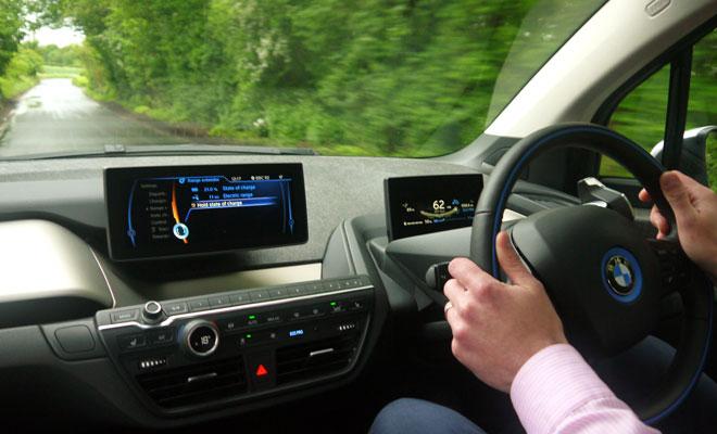 BMW i3 driven