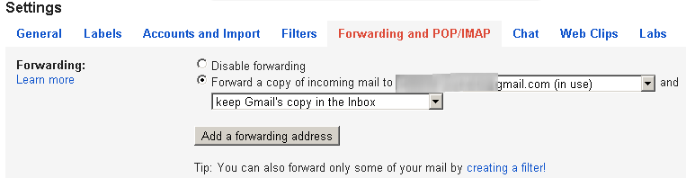 forwarding gmail 1 How to configure Auto forward in Gmail