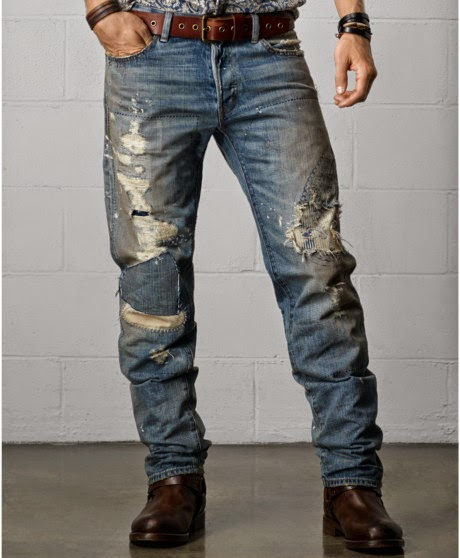 Distressed Jeans: Rugged yet Stylish