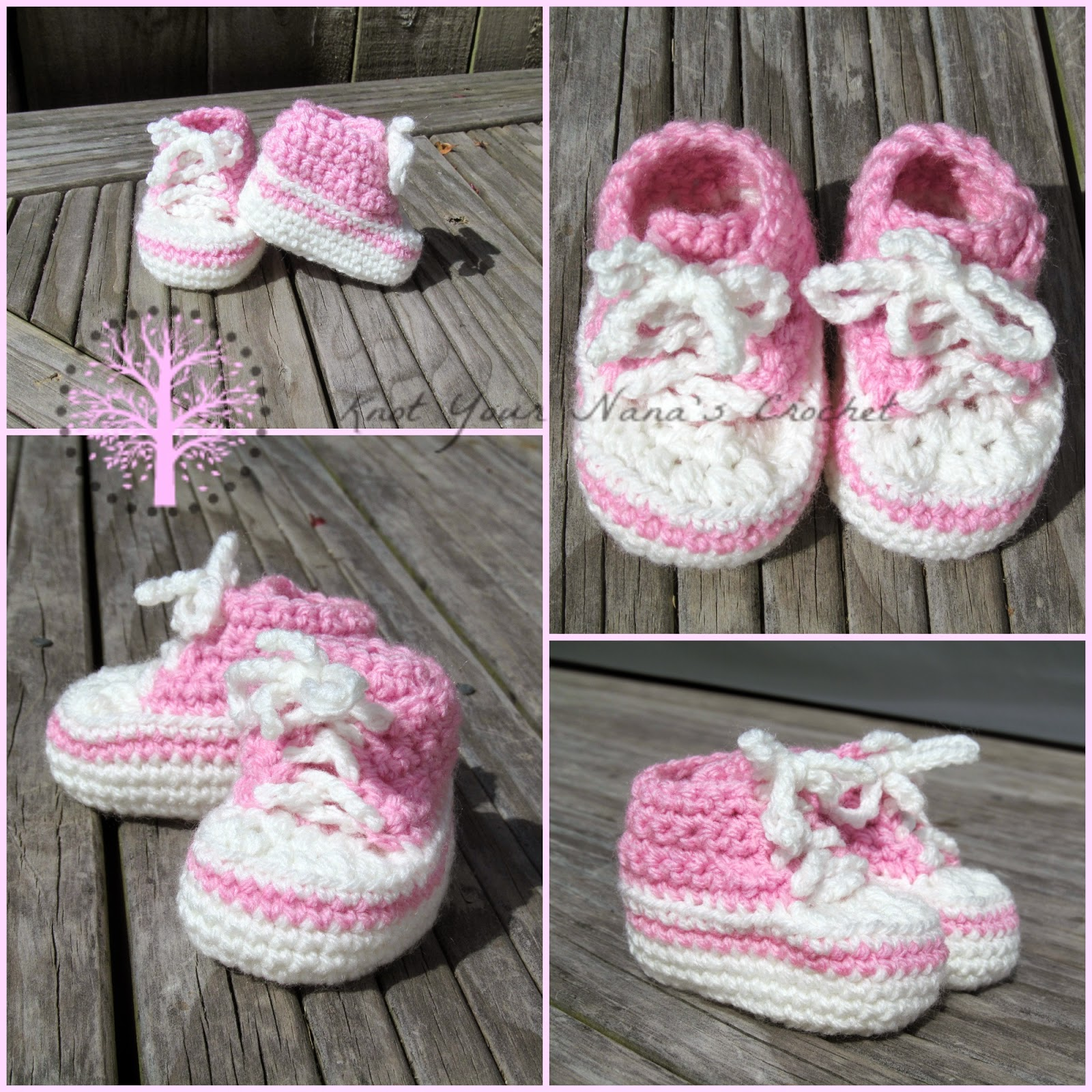Free Knitting Pattern For Baby Tennis Shoes : Knot Your Nanas Crochet: Crochet Converse Newborn High Tops