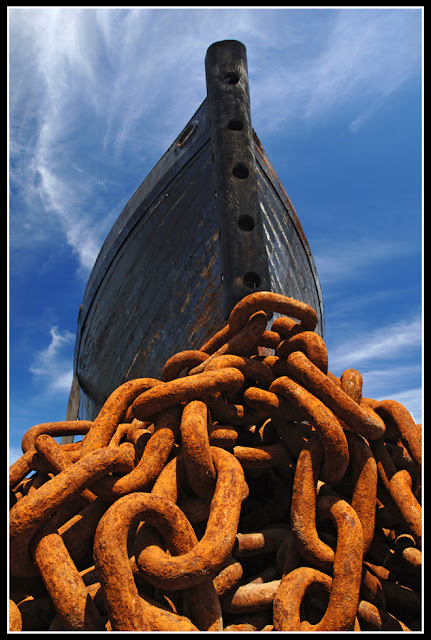 Nova Scotia; Rust; Boat; Chains
